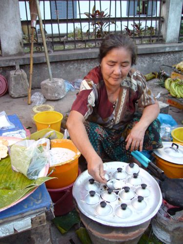 Street food vendor in Laos